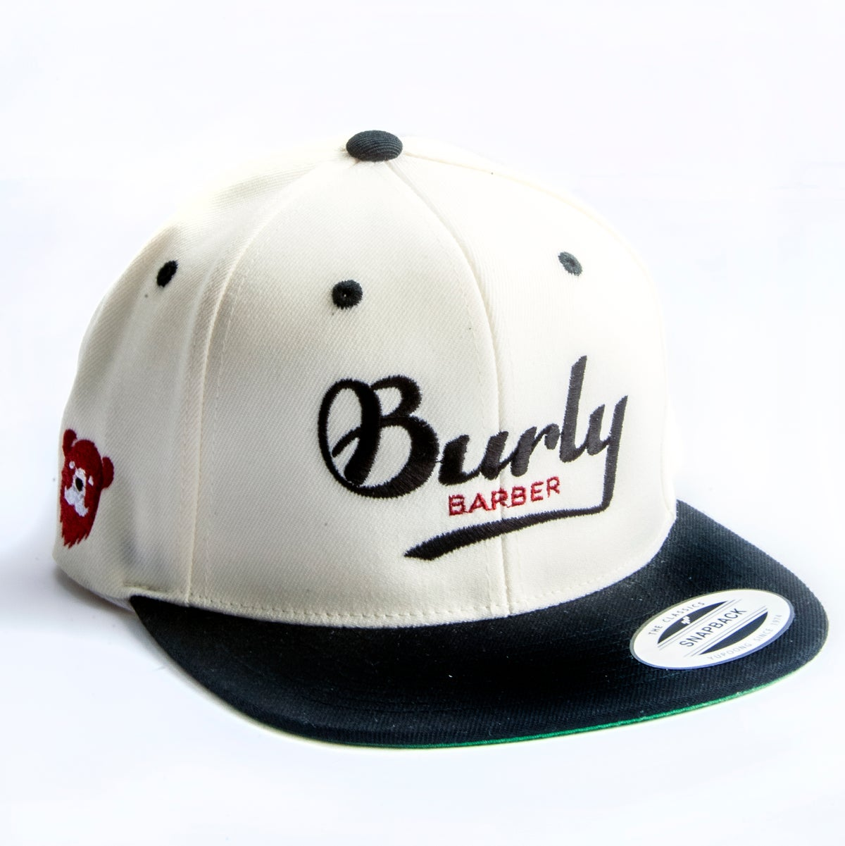 Burly Barber Cap - Natural w/ Black Brim