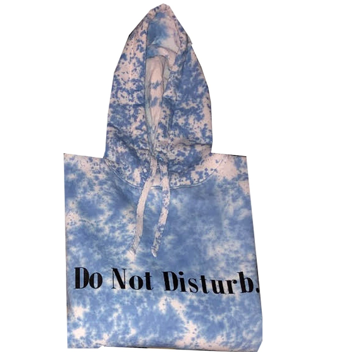 "Image of Everyday Tie Dye Do Not Disturb Hoodie ""Black on Blue """