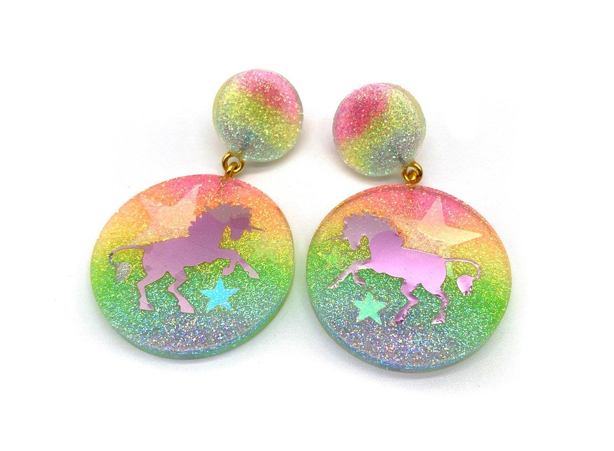 Image of Unicorn Magic Statement Earrings