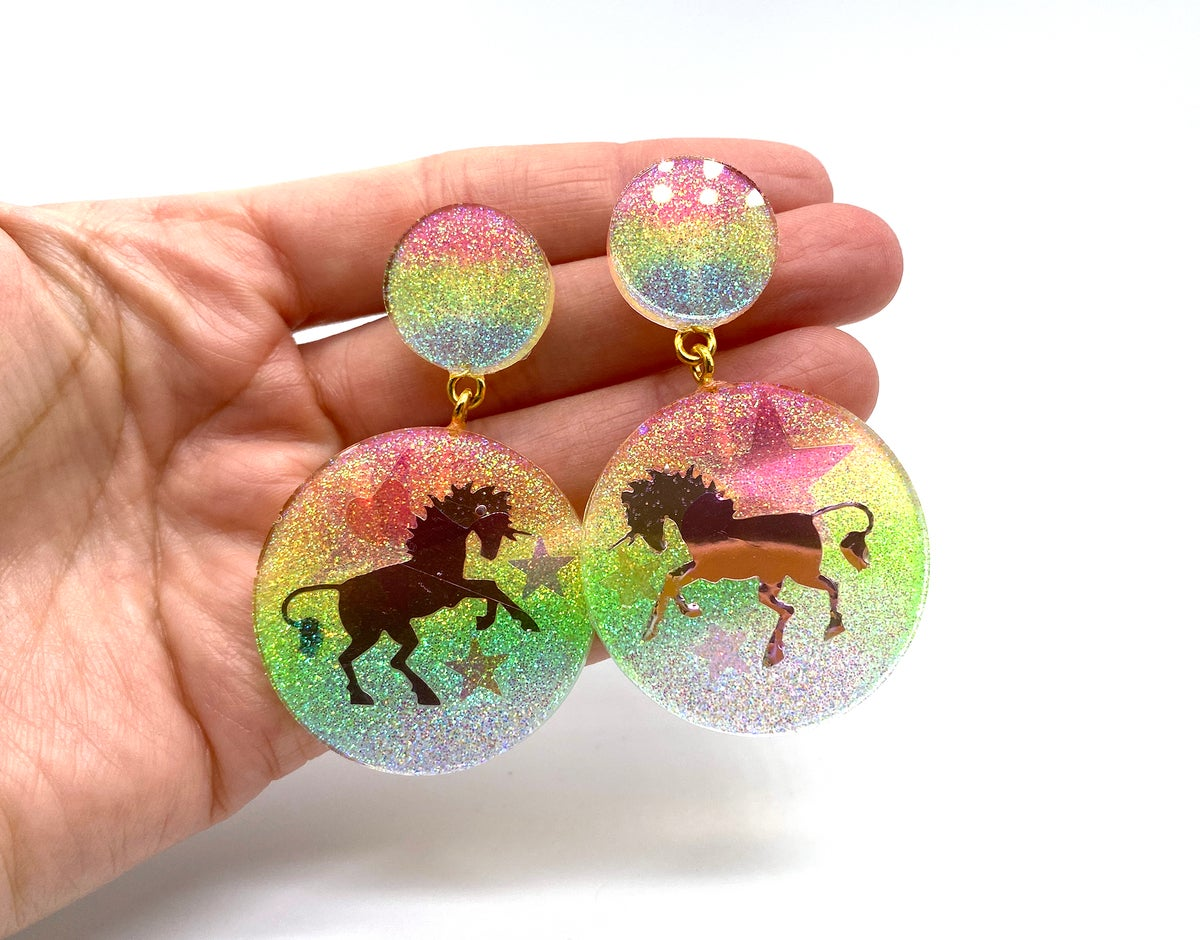 Image of Unicorn Magic Statement Earrings