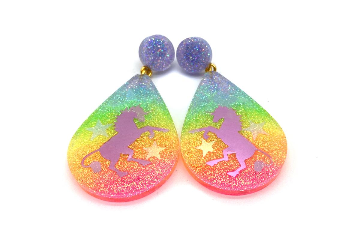 Image of Unicorn Magic Drop Statement earrings
