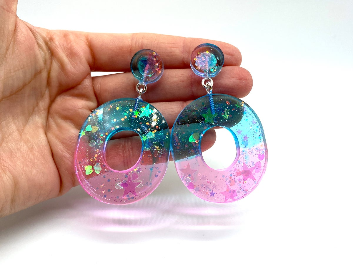Image of Dreamy Time Statement earrings