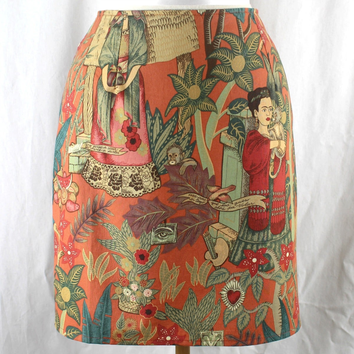 Image of Frida Kahlo Skirt - Paprika