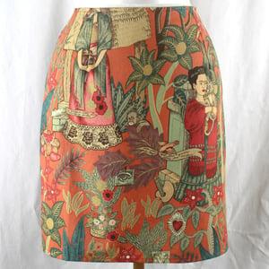 Image of Frida Kahlo Skirt - Paprika