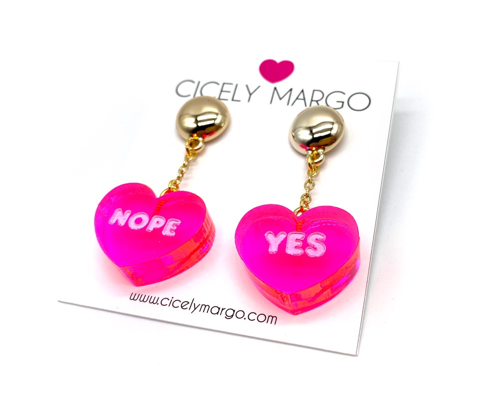 Image of Conversation Heart earrings