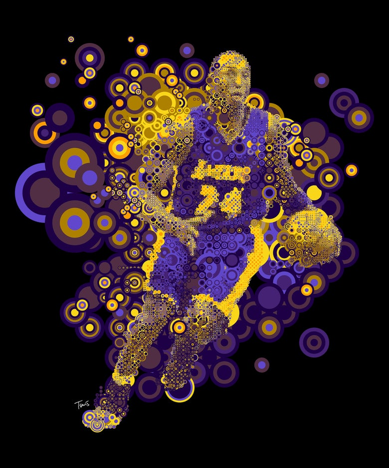 Image of Kobe Bryant: L.A.Lakers Colors
