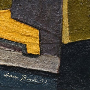 Image of 1977, Abstract  Oil Painting, HUGO ARNE BUCH