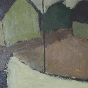 Image of Mid Century Oil Painting 'Sailboat'