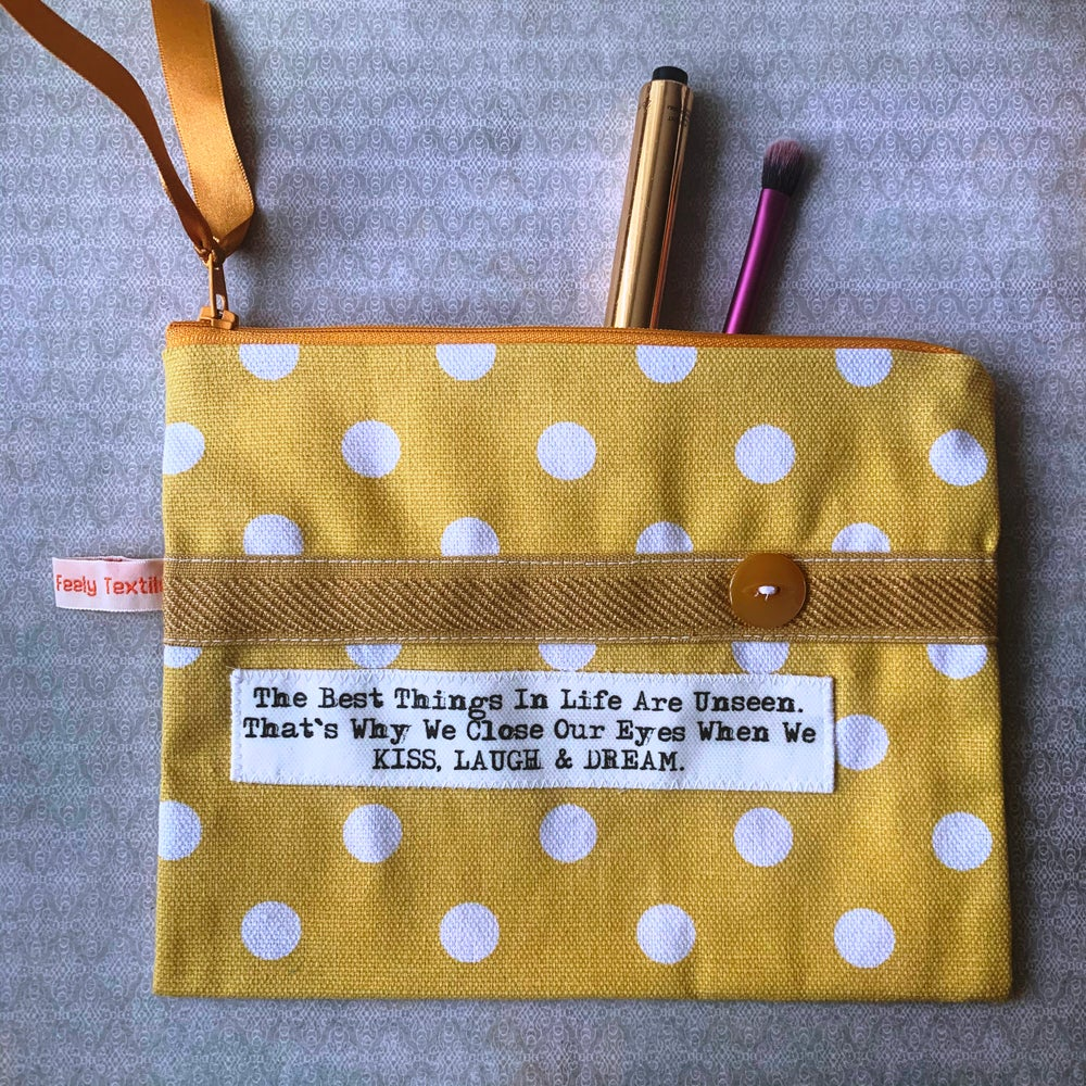 Image of The best things in life ...quote purse
