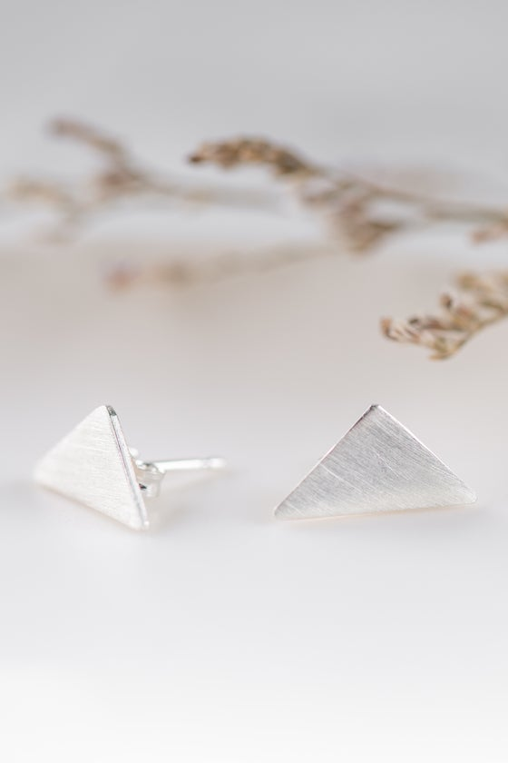 Image of  Simplistic Triangle Studs