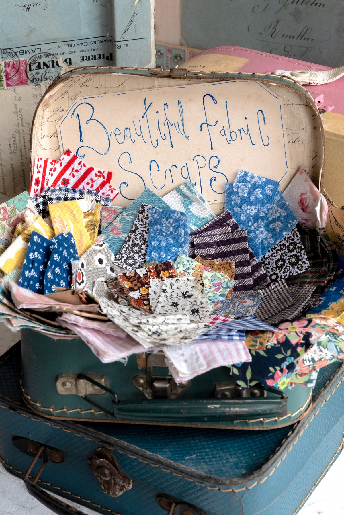 Image of  Beautiful fabric scraps