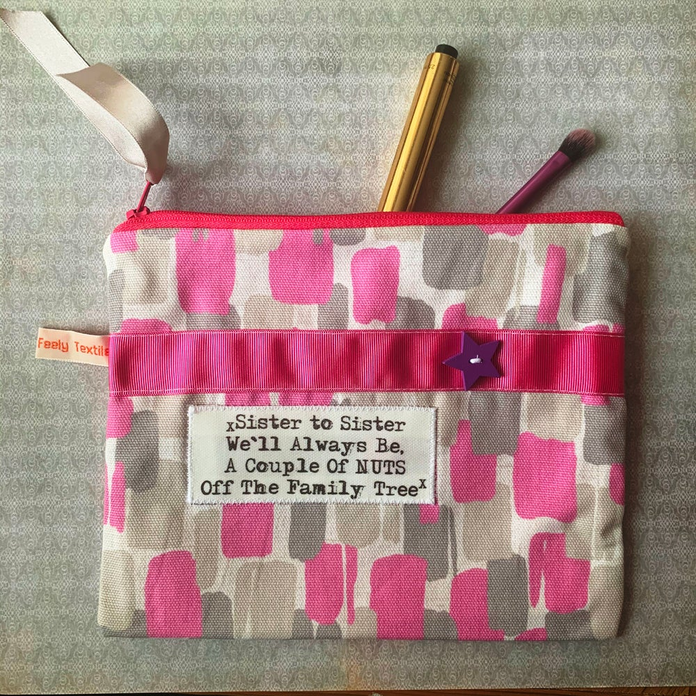 Image of  Sister nuts - quote purse