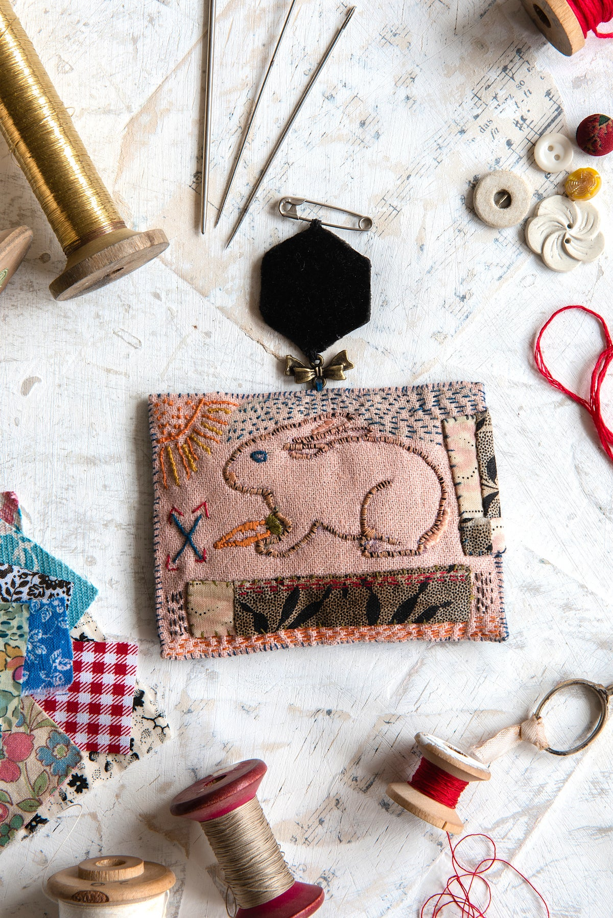 Image of 'Make Your Own Bunny Brooch' kit