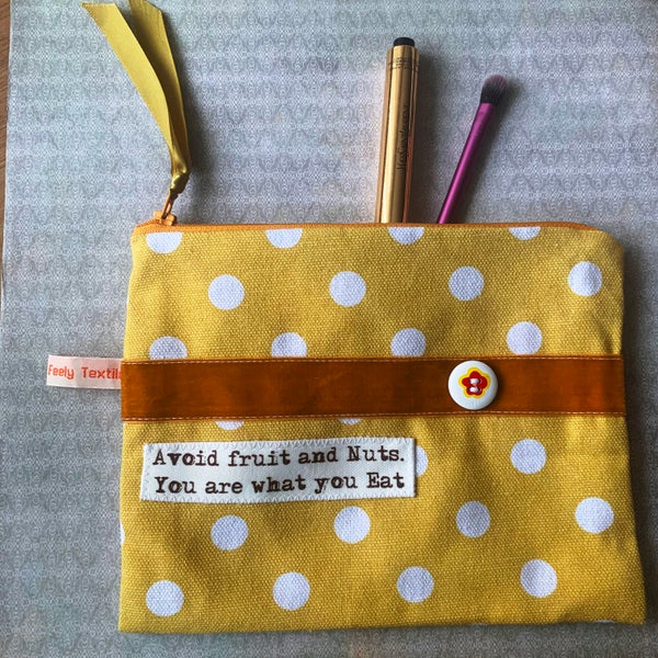 Image of 'Avoid Fruit And Nuts, You Are What You Eat' Quote Purse