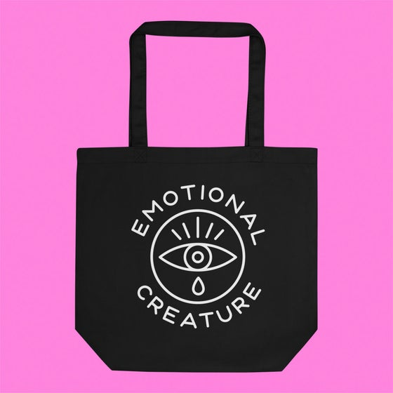"Image of ""EMOTIONAL CREATURE"" TOTE."