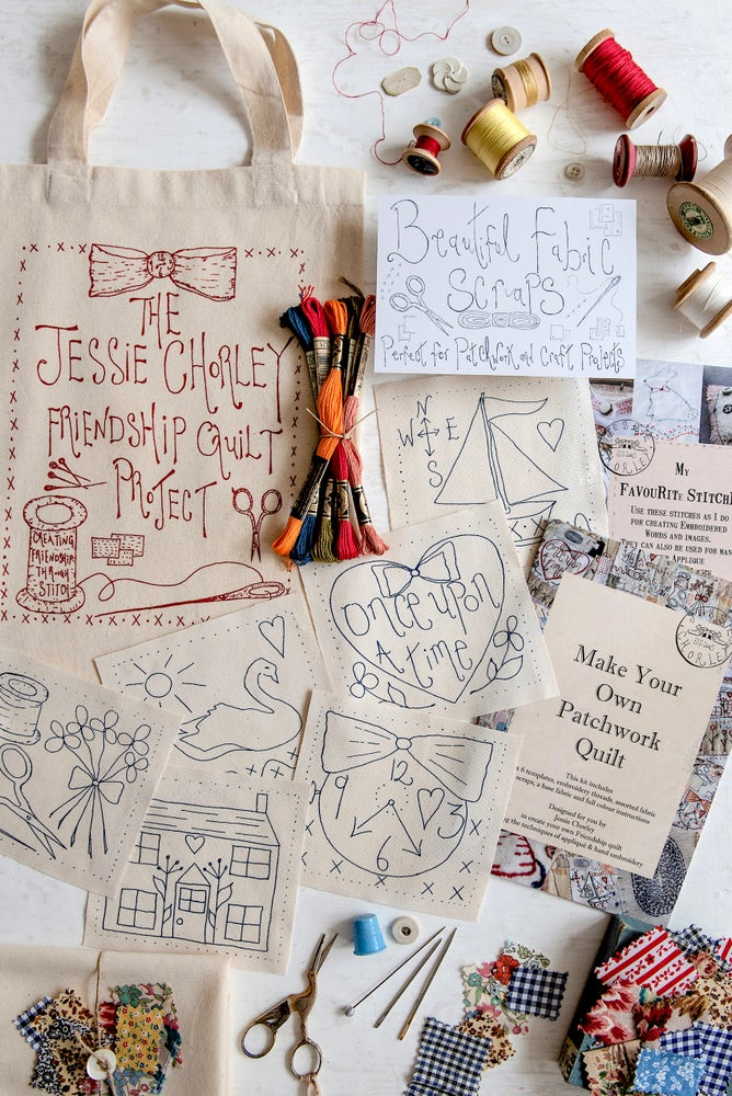 Image of 'The Jessie Chorley Friendship Quilt' A full kit project