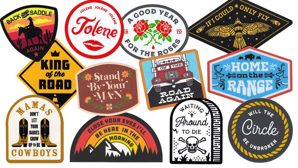Image of Country Music Sticker 12-Pack