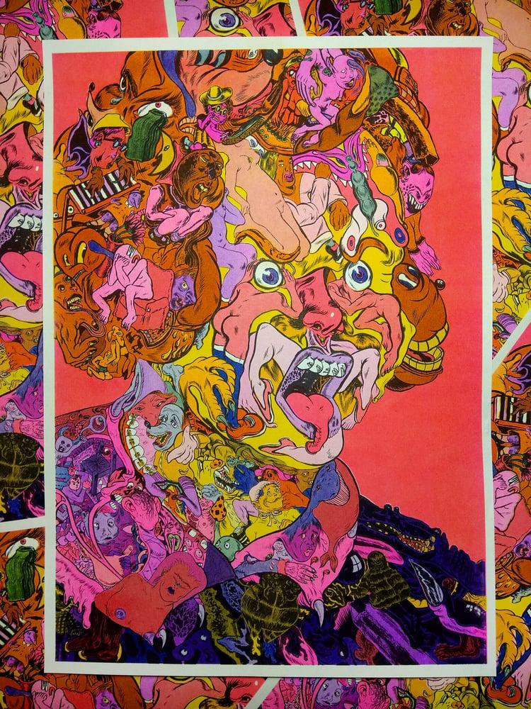 Image of Four Colour Risograph Print (Collaboration with Kati Akraio)