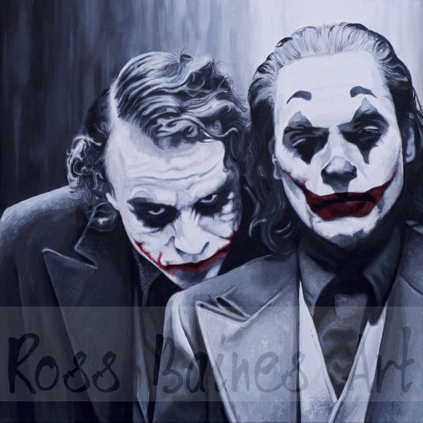Image of PAIR OF JOKERS (2x2ft or 3x3ft canvas print)