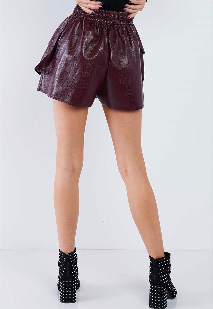 Image of  CRINKLED FAUX LEATHER CARGO