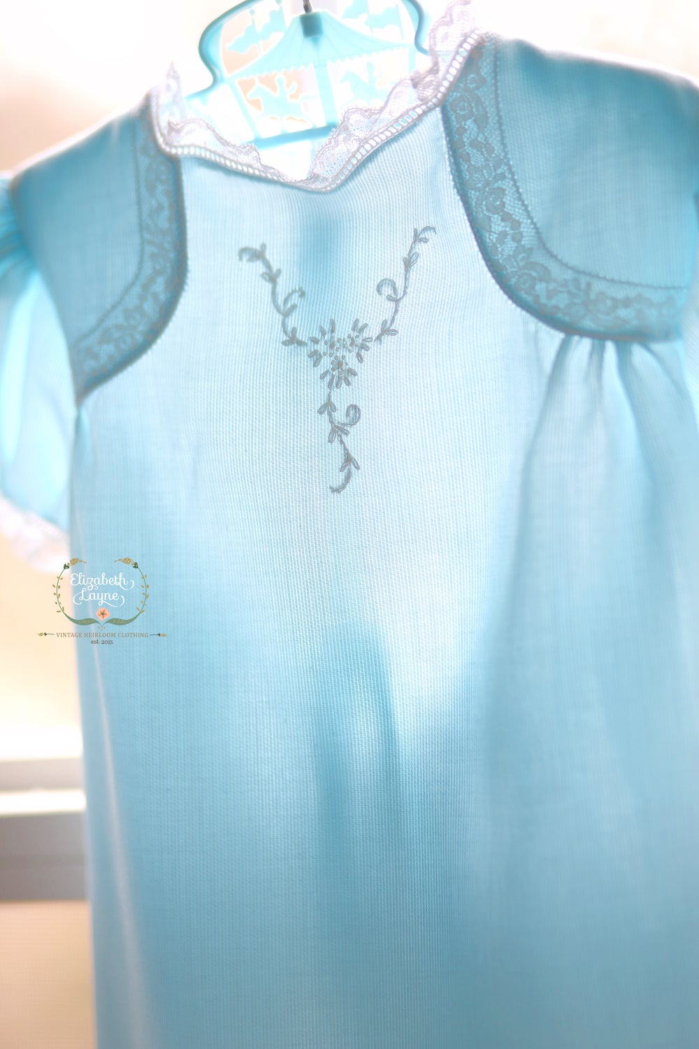 Image of Aqua Blue 'Millie' Vintage Day Dress