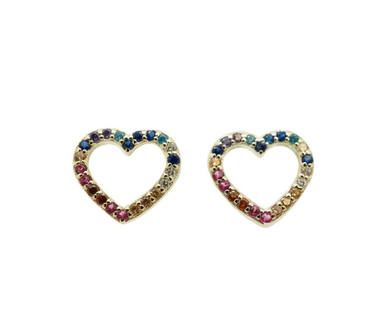 Image of Multicolor Heart studs