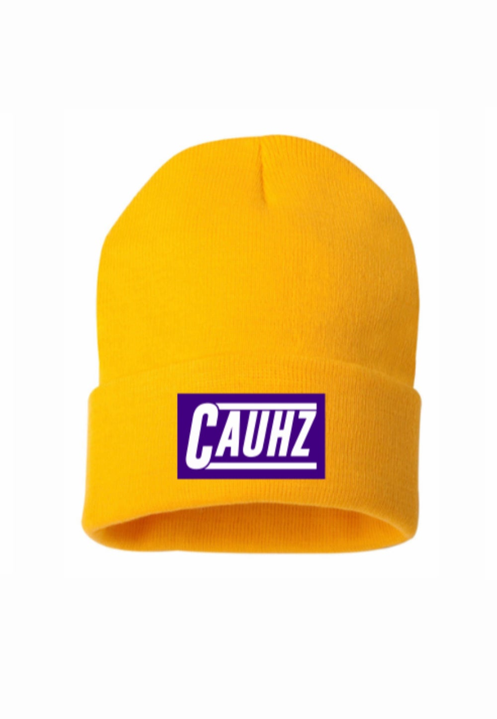 """Cauhz™️ """"8-24"""" Gold Stitched Beanies"""