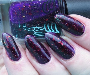 Image of Taxi!?! Deep purple jelly with red, gold and copper