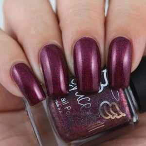 Image of Tru Love is a deep pink holo with aurora shimmer