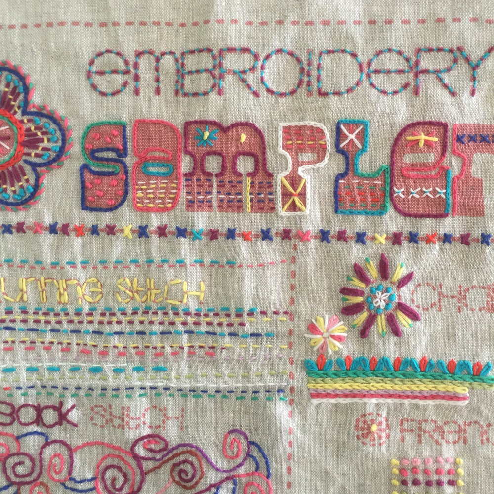 Image of Embroidery Sampler with Cath Sunday March 22nd 10am-1pm..SOLD OUT..APRIL 19TH 10AM-1PM AVAILABLE