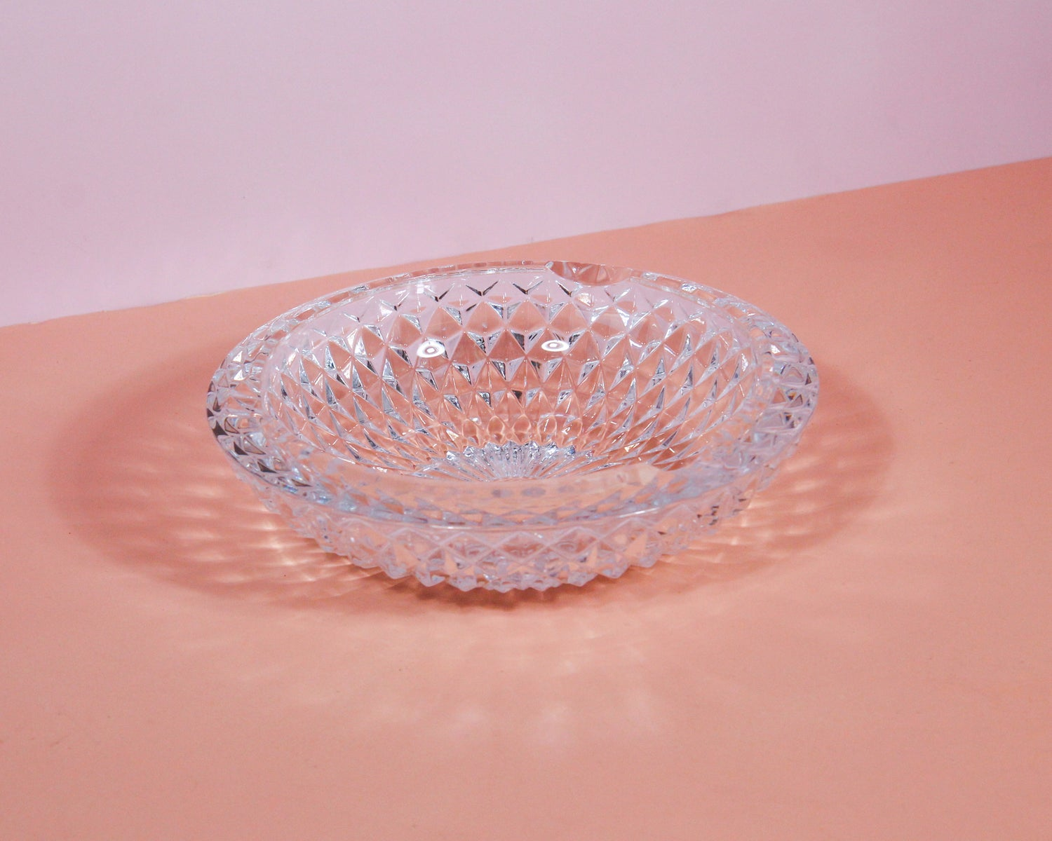 Image of Crystal Glass Geodesic Cigar Ashtray