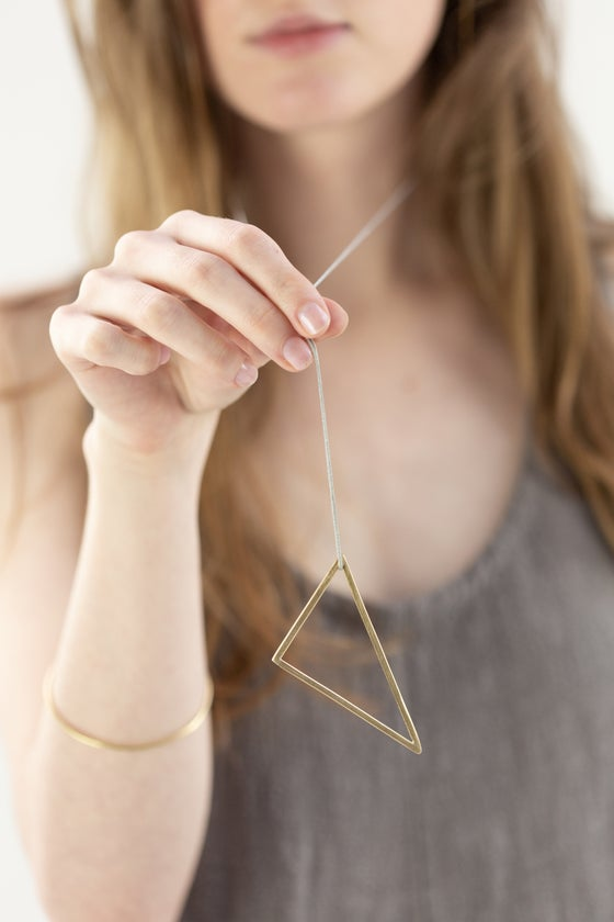 Image of Geometric drop necklace