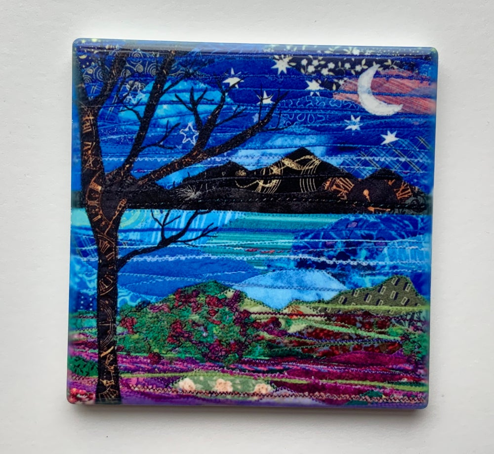 Image of Starry night ceramic coasters