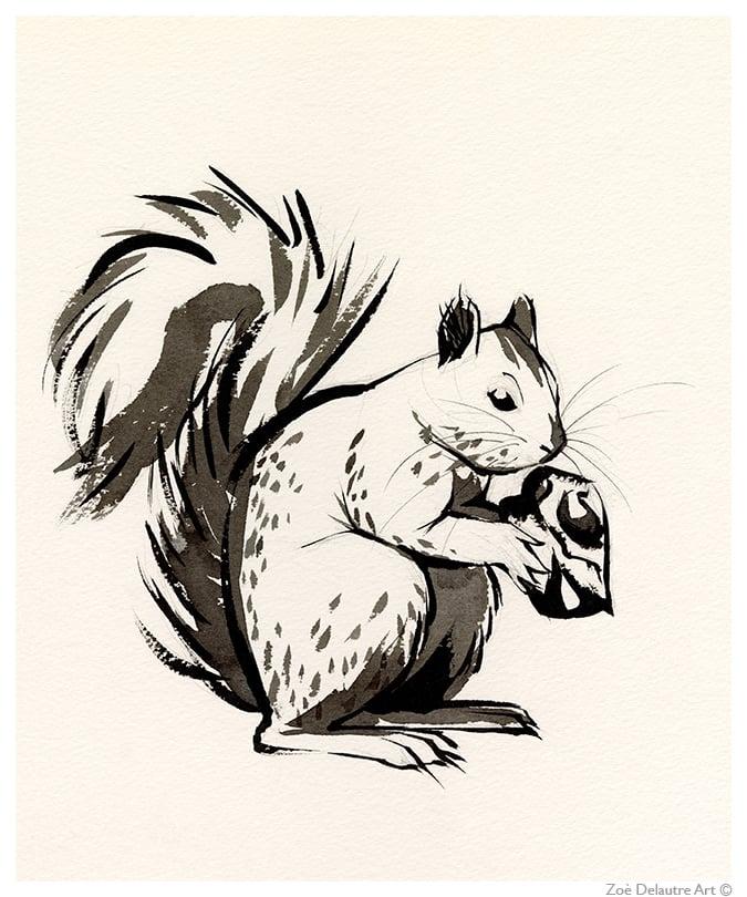 Image of Grey Squirrel Memento Mori
