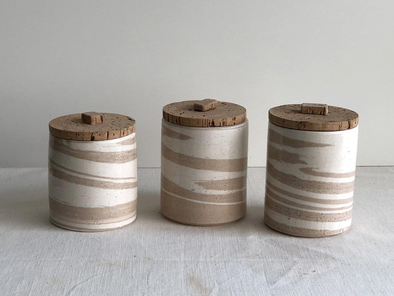 Image of Alentejo Marbled pot set of 3