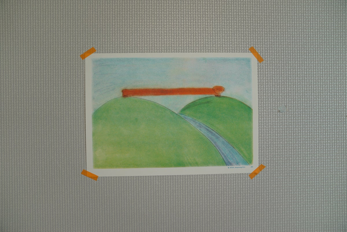 Image of A3 Riso Poster- Doggy on a mountain