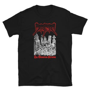 Image of DISMA - THE GRAVELESS REMAINS,  ARTIST VERSION R/W T-SHIRT