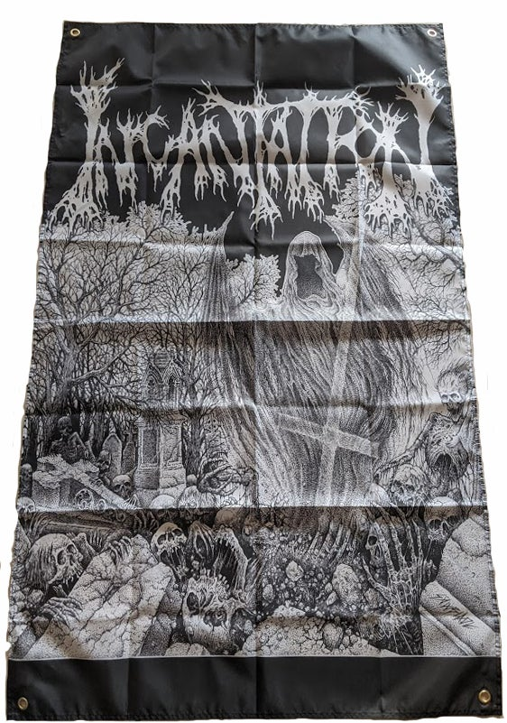 "Image of Incantation "" Rotting ""  - Banner / Tapestry / Flag"