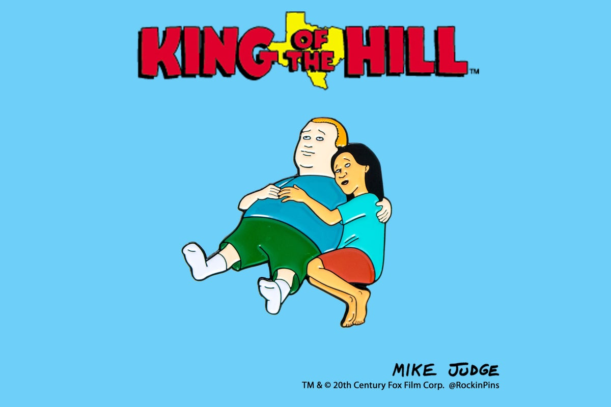 Image of King of the Hill - Bobby and Connie Enamel Pin