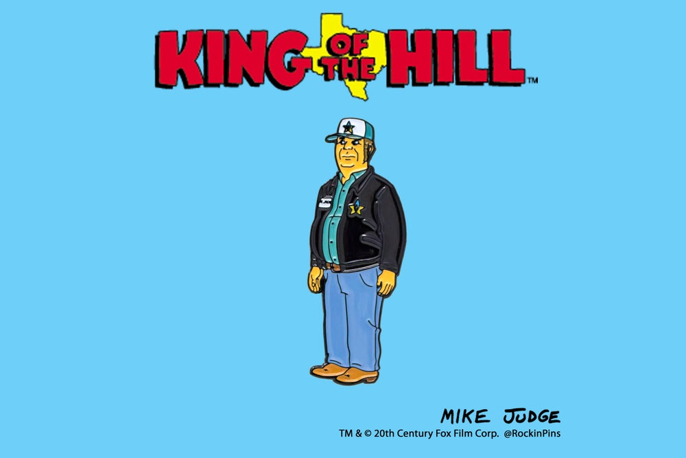 Image of King of the Hill - Joe Jack Enamel Pin