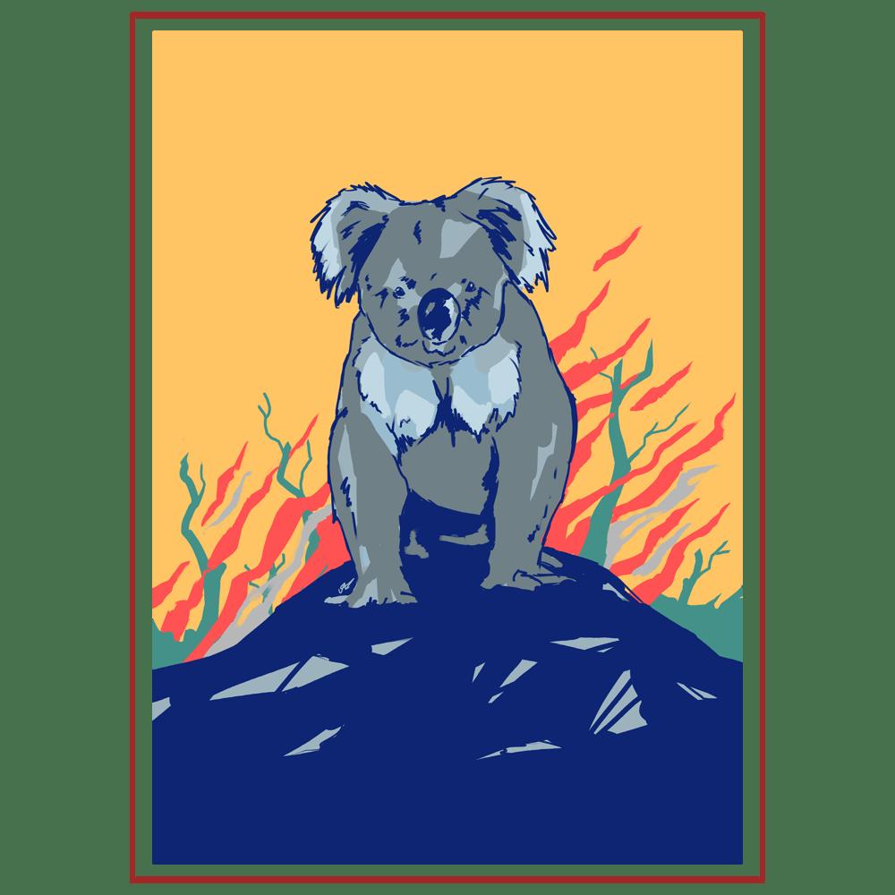 Image of Anya's Koala Print for Wildlife Victoria