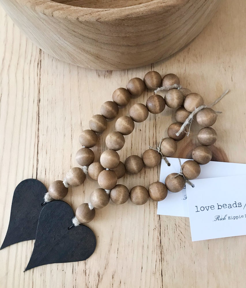 Image of MINI LOVE BEADS - BROWN HEART