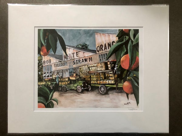 "Image of LL45 - 11X14 Reprint ""Before the Freeze"" Bob White Citrus Packing Plant"