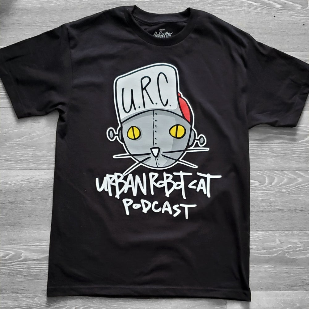 Image of UrbanRobotCat Podcast Shirt