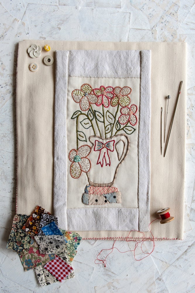 Image of 'Wild Flowers' embroidery template
