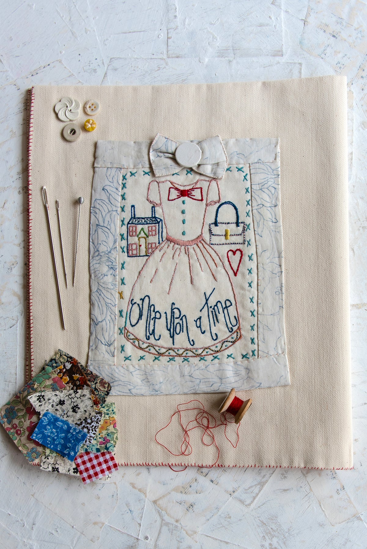 Image of Little dress embroidery template