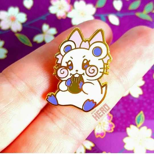 Miki the Hamster Pin
