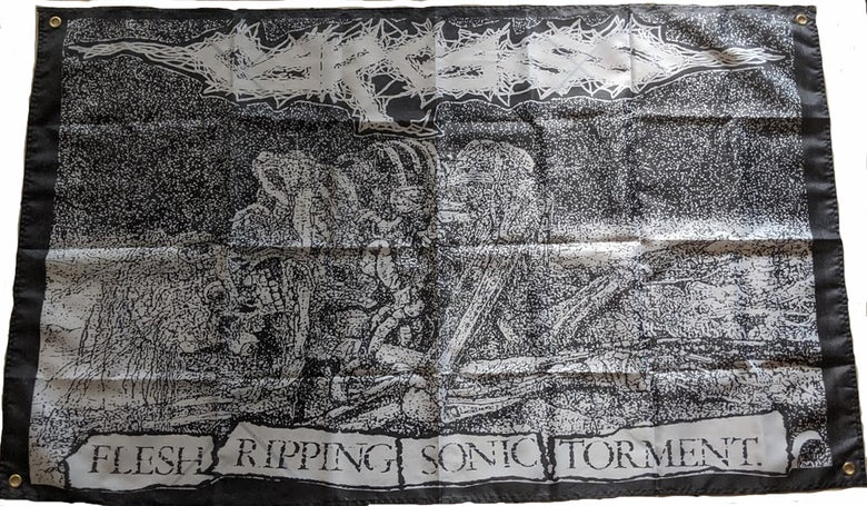 "Image of Carcass "" Flesh Ripping - Banner / Tapestry / Flag"