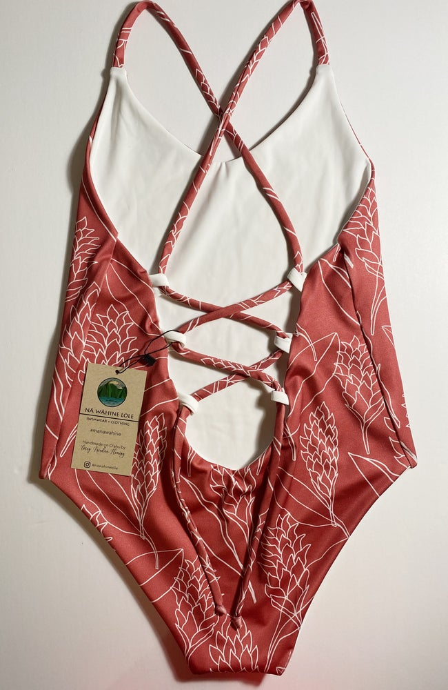 Image of READY TO SHIP- S-XL berry heleconia one piece