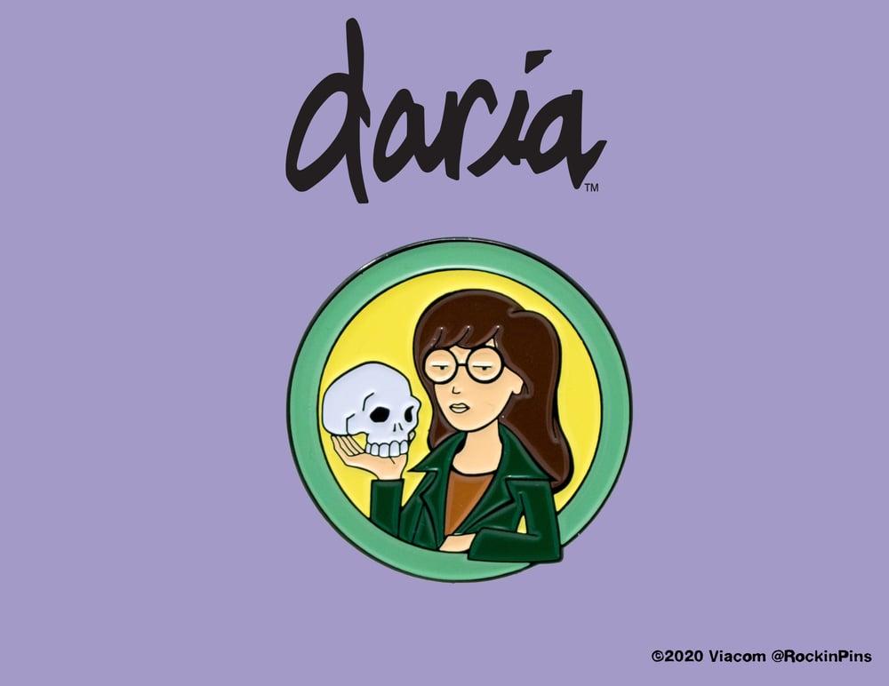 Image of Daria - Daria with Skull Enamel Pin